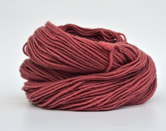 Dusty Rose Weaving Yarn, Navajo Weaving Yarn, Wool Yarn, 4oz skein