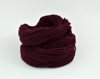 Maroon Weaving Yarn Wine Red, Navajo Weaving Yarn, Wool Yarn, 4oz skein