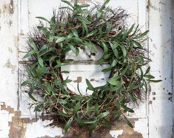 Fall  Olive & Twig Wreath, Autumn decor, Tuscan Farmhouse wreaths, Thanksgiving