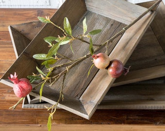 Pomegranate Stems, FREE SHIPPING  Artificial Florals - Faux Harvest time, Tall Autumn flowers, farmhouse decor, by Darby Mack