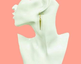 Gold Spike Earrings Subtle Punk