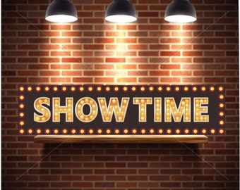 Showtime Sign Movie Room Wall Art for Your Home Theater Decor Home Cinema Sign - Gifts for Home