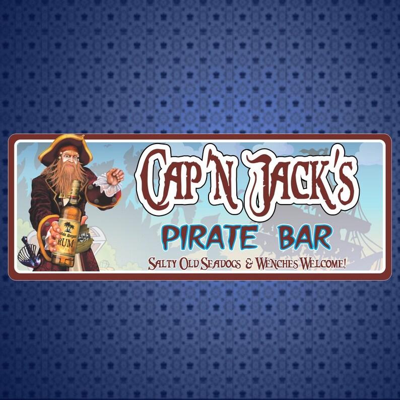 3 types acrylique//Stratifié//en bois Jake Pirate Personnalisé Porte Plaque
