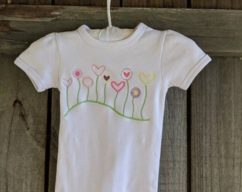 Blooming Garden  Bodysuit or T shirt- Name included.