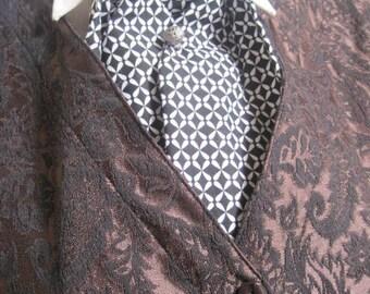Black and White Victorian Cravat