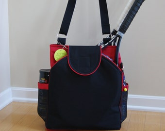 Little Sister Bag to Large Tennis Bag with Rounded Pockets- Made to Order !