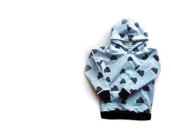 Blue hills Hoodie, toddler hooded sweatshirt, baby clothes