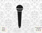 Microphone SVG - DJ Cut File - Band Sing Song - Circut - Vinyl - Music - Retro Vintage Recording Headphones