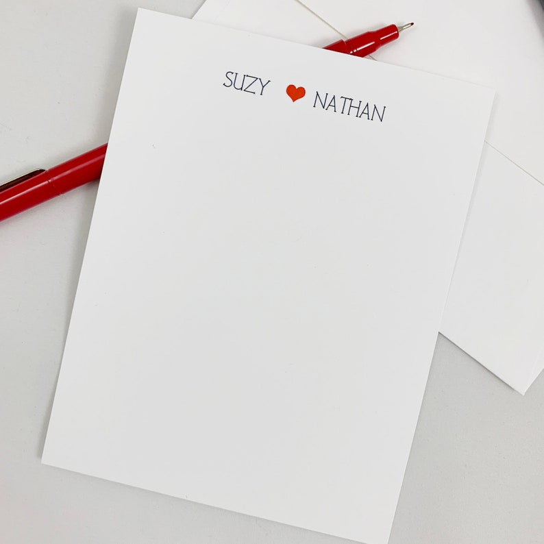 Her /& Him Thank You Note Cards