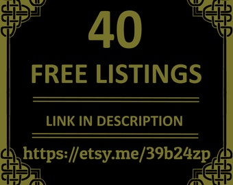 40 Free Etsy Listings When You Open A New Shop / Referral Link / Link To Open Etsy Store / Etsy Shop Referral Code / No Cost / Free Credits