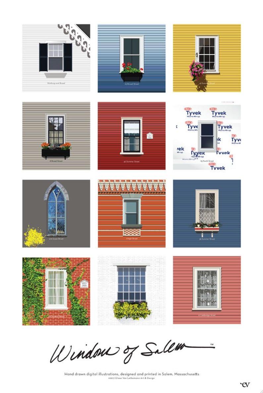 Windows of Salem collage poster 24x36