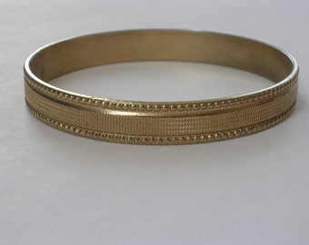 1950s Gold Bangle with Decoration