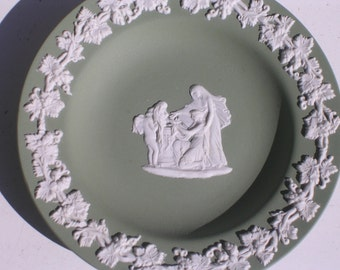 Wedgwood Jasperware Sage Green Dish with Cupid