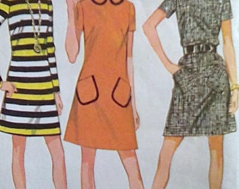 McCalls 2189 A-Line Dress Pattern Size 14