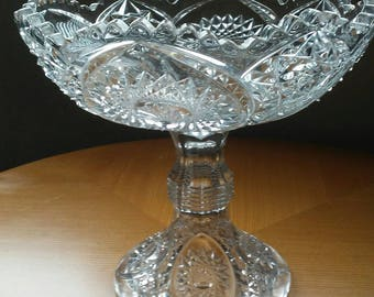 Crystal Centerpiece Pedestal Bowl