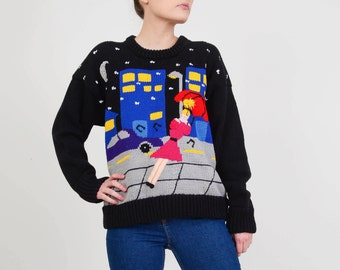 1cb05bdb04 80s City Street Scene Sweater