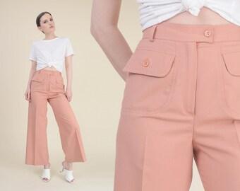 3533a8848c68b Salmon pink pants | Etsy