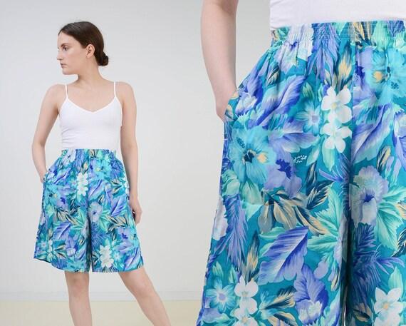 Vintage Shorts  Tropical Shorts  Retro Bottoms  New Old Stock  NOS Shorts  Hawaiian High Waisted Shorts  Size Medium M