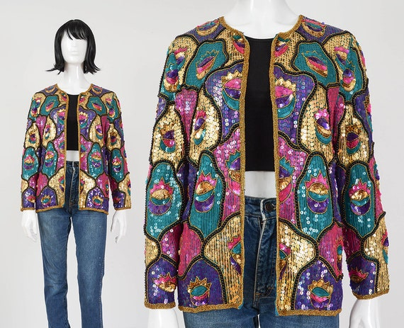Womens Designer Inspired Multi-Color Sequined Tweed Suit  *Customized Size*