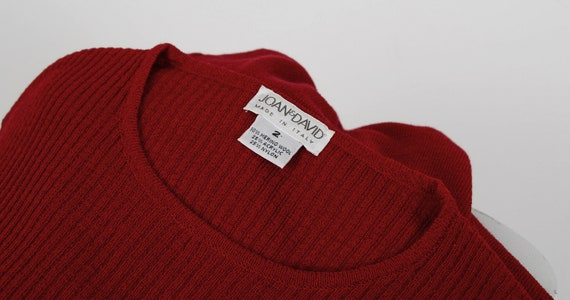 Red made Wool size Cranberry S 6 Stretchy Sleeve ITALY 4 2 Knit Sweater XS Merino Small Short Dress Minimalist 80s Dress in Maxi aAqn58w8