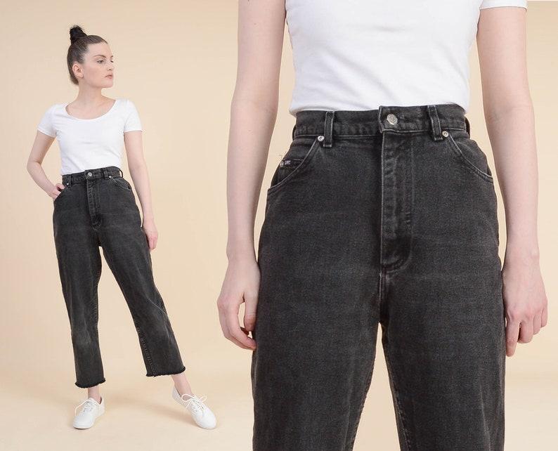 ff2ee489 Vintage Black LEE Jeans 30 inch waist Worn In High Waisted | Etsy