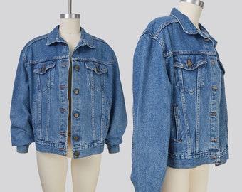 Vintage CHIC Jean Jacket | Oversized Fit Trucker Denim Jacket | size Medium