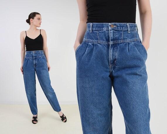 Vintage 80s Seamed Yoke Jeans | High Waist Mom Jea