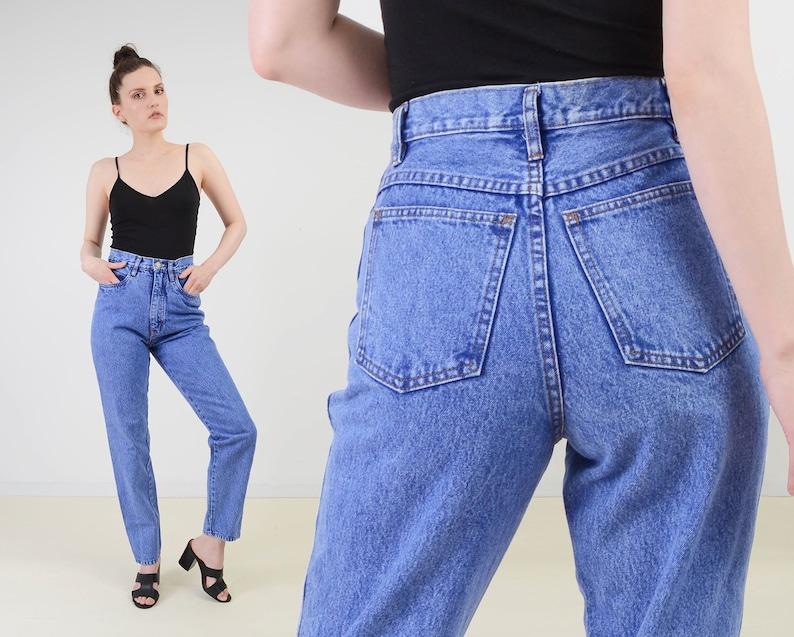 Vintage 90s Stonewash Mom Jeans  size 28 inch waist  High image 0
