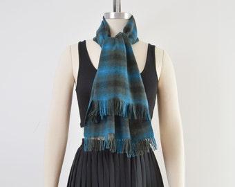 Vintage Pendleton Scarf | Plaid Wool Scarf | Fringe Scarf