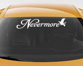aed30b5d Nevermore DECAL Edgar Allan Poe Vinyl Sticker Gothic Raven