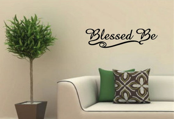 Pagan Wiccan Vinyl Wall Art Decal Blessed Be Wiccan saying | Etsy