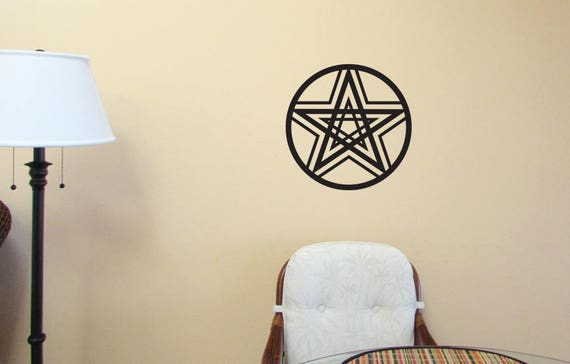 Pentacle Double Pentagram WALL ART Wiccan Pagan Witch Vinyl   Etsy