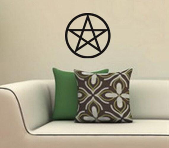 Pentagram Vinyl Decal Pagan Wiccan WALL ART Pentacle   Etsy