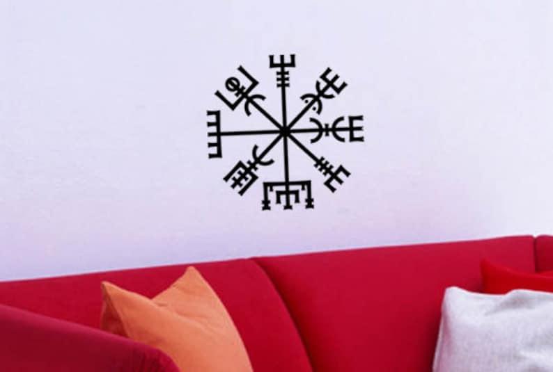 Vegvisir Viking Symbol Vinyl WALL ART Decal Pagan Norse Asatru Iceland