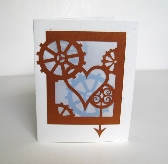 Steampunk Greeting Card Valentine