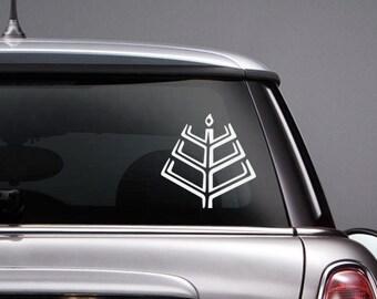 Romuva Lithuanian Baltic Symbol Vinyl CAR DECAL Pagan Sticker