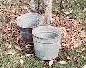 Vintage galvanized bucket...