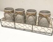 Grey chalk-painted mason ...