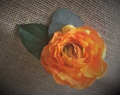 Orange ranunculus artific...