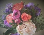Peach, pink, and purple k...