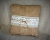 Burlap, linen and lace ri...
