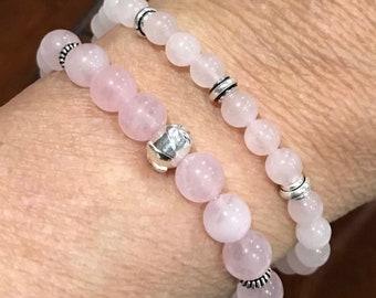 Rose Quartz stretch bracelet, Stretch Bracelet, Pink gemstones, Natures Splendour, Heart Chakra