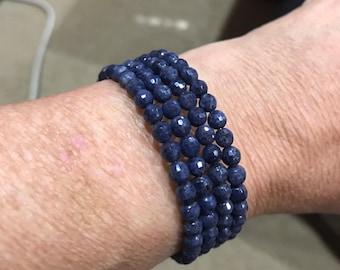 Sapphire, Sapphire Bracelet ,  Sapphire Cuff Bracelet, Blue Bracelet, September Birthday , September Birthstone , Natures Splendour Jewelry
