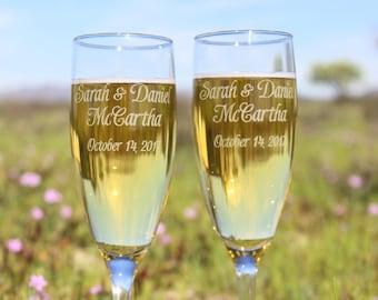 Wedding Toasting Flutes, Champagne Flutes,  Personalized Champagne Flutes, Personalized toasting glasses