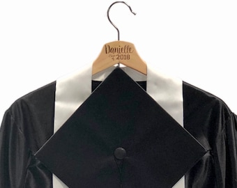 Engraved, custom, graduation cap, photo prop, graduation gift, cap and gown hanger