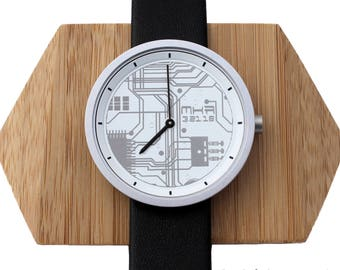 Engineer Gift for him, Electrical, Circuit Board, Custom Watch, Electrical Engineer Gifts,Geeky Gifts,Circuit Board Clock,Diagram, Geek Gift