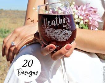Bridesmaid Wine Glasses, Personalized, Bridesmaid Ask Proposal, Bridesmaid Glasses, Bridesmaid Glass, Bridesmaid Gift ideas
