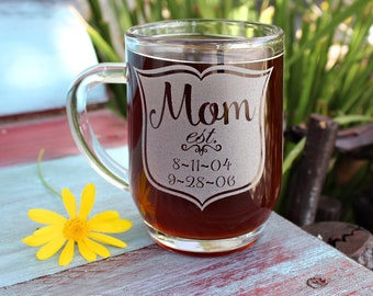 Mom Coffee Cup, Personalized Gift Mum, Gifts for Mom, Coffee lover Gift, Personalized Gift for Her, Mothers Day Coffee Mug, Engraved Gifts
