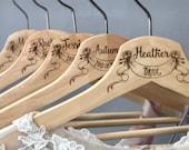 Wedding Hanger, Personalized, Bride Hanger, Bridal Hanger, Wedding Dress Hanger with Date