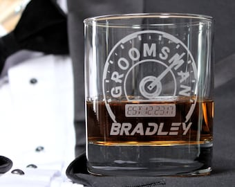 Groomsmen Gift Glasses, Groomsmen Gift, Best Man Gift, Whiskey Glass, Personalized Wedding Toasting Glasses, Father of the Bride, Usher Gift